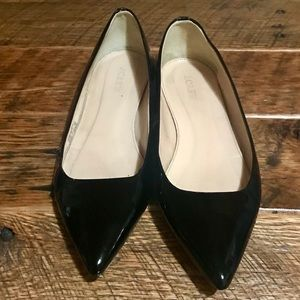 Pointy patent leather flats from JCrew